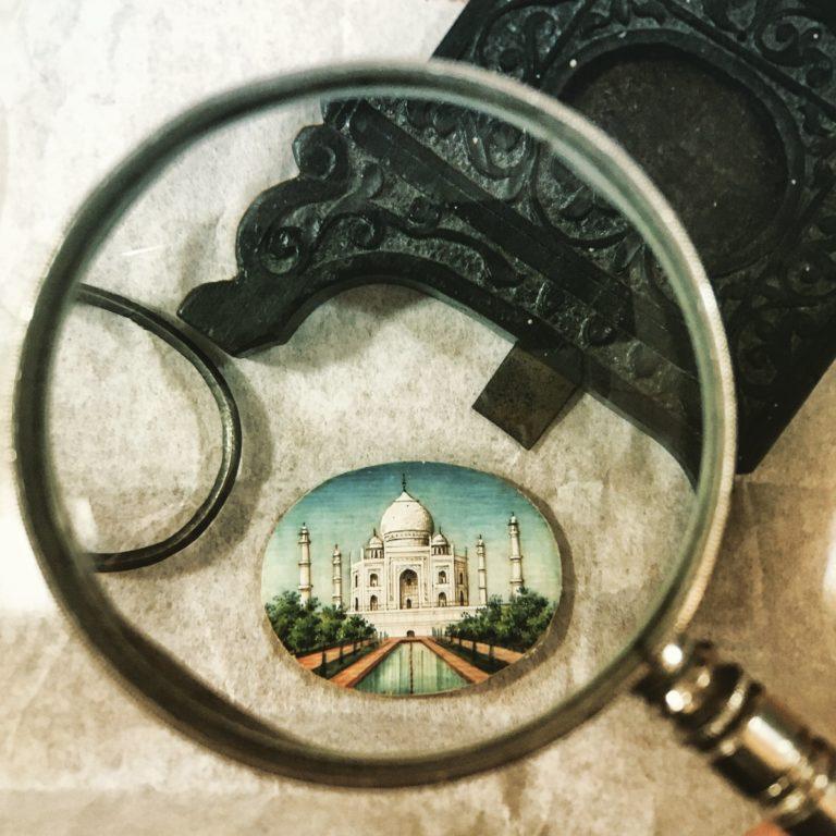 Miniature Taj Mahal Painting